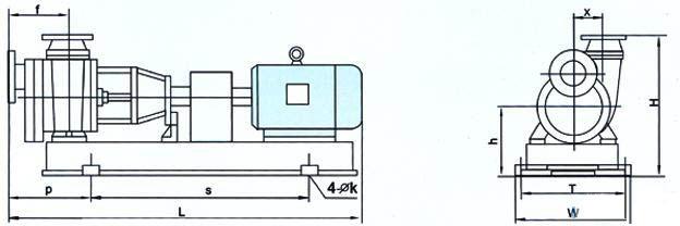 fzb系列氟塑料自吸泵安装尺寸
