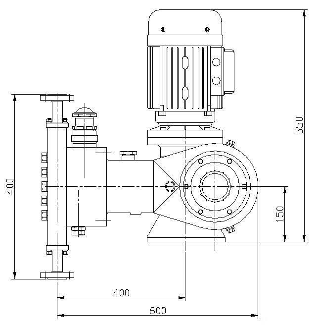 jyz系列液压隔膜式计量泵 (装配图)图片